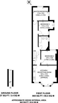 Large floorplan for Holland Road, Kensal Green, NW10