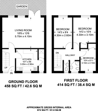 Large floorplan for Burnley Road, Dollis Hill, NW10