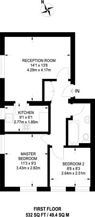 Large floorplan for Lansdowne Road, East Croydon, CR0