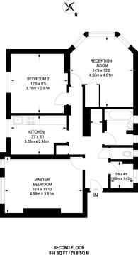 Large floorplan for Ligonier Street, Shoreditch, E2