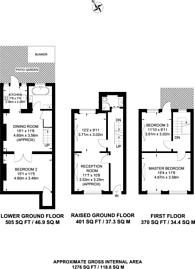 Large floorplan for Coombs Street, Angel, N1