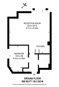 Large floorplan for Collingham Road, South Kensington, SW5