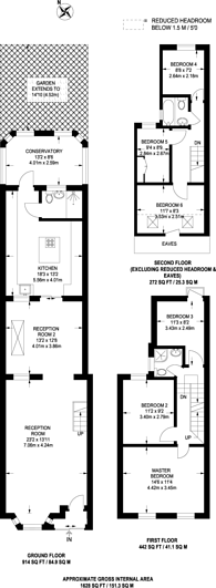 Large floorplan for Gosport Road, Walthamstow, E17