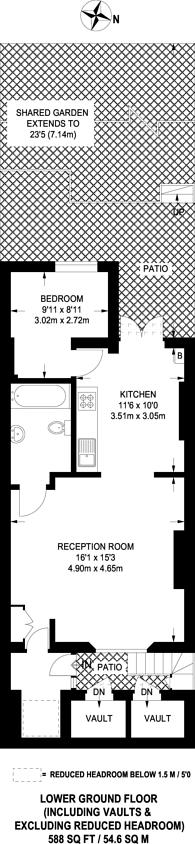 Large floorplan for Kildare Gardens, Bayswater, W2