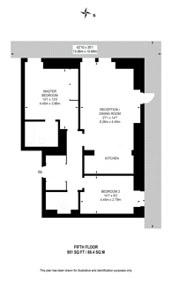 Large floorplan for Moore House, Chelsea, SW1W