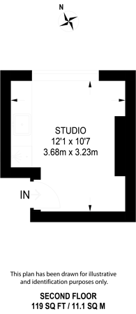 Large floorplan for Barons Court, Barons Court, W14