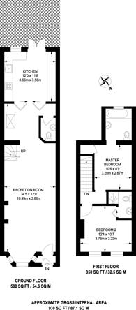 Large floorplan for Warberry Road, Wood Green, N22