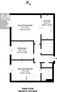 Large floorplan for The Bittoms, Kingston, KT1