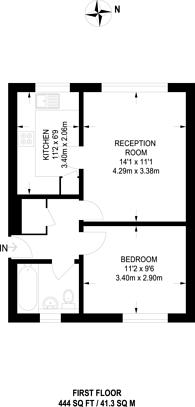 Large floorplan for Stirling Close, Streatham Vale, SW16