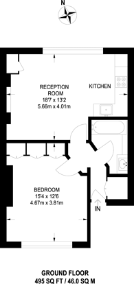 Large floorplan for Belsize Road, South Hampstead, NW6