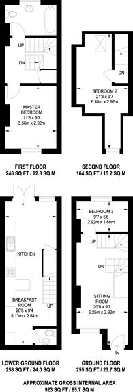 Large floorplan for Addison Road, Guildford, GU1