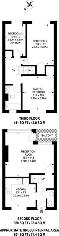 Large floorplan for Loughborough Road, Brixton, SW9