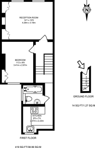 Large floorplan for Elsley Road, Battersea, SW11