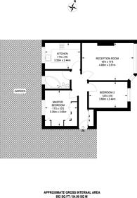 Large floorplan for Elmbourne Road, Tooting, SW17