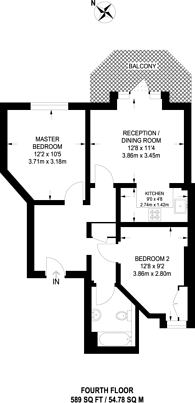 Large floorplan for Shoot Up Hill, Willesden Green, NW2
