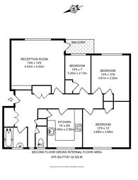 Large floorplan for Jackman Street, Hackney, E8