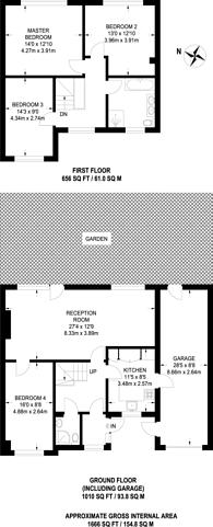 Large floorplan for Stanley Road, Sutton, SM2