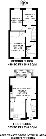 Large floorplan for Raglan Road, Walthamstow, E17