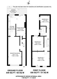 Large floorplan for Crawthew Grove, East Dulwich, SE22