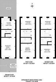 Large floorplan for Beeston Close, Dalston, E8