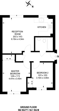 Large floorplan for Gilson Place, Muswell Hill, N10