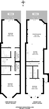 Large floorplan for Frognal, Swiss Cottage, NW3