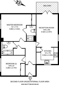 Large floorplan for School Meadow, Guildford, GU2