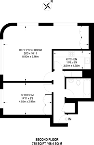 Large floorplan for Charter House, Covent Garden, WC2B