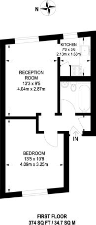 Large floorplan for Kentish Town Road, Kentish Town, NW5