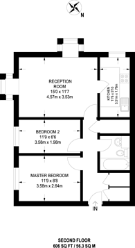 Large floorplan for Kingsleigh Place, Mitcham, CR4
