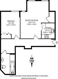 Large floorplan for Queen's Gate Terrace, South Kensington, SW7