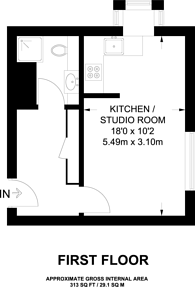 Large floorplan for Silbury Avenue, Colliers Wood, CR4