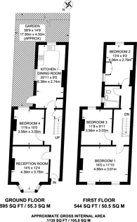 Large floorplan for Ferrers Road, Streatham Common, SW16