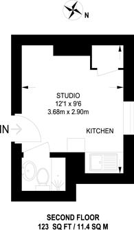 Large floorplan for Fulham Palace road, Hammersmith, W6