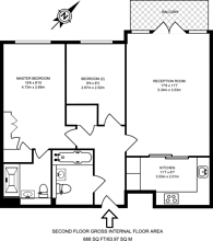 Large floorplan for Oakbark House, Brentford, TW8