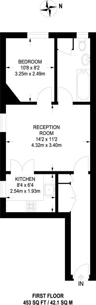 Large floorplan for Cormont Road, Camberwell, SE5