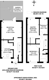 Large floorplan for Roebourne Way, Gallions Reach, E16