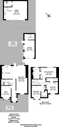Large floorplan for Calmont Road, Bromley, BR1