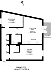 Large floorplan for Corsica Street, Highbury and Islington, N5