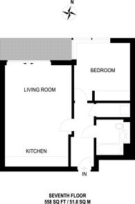 Large floorplan for Maine Tower, Canary Wharf, E14