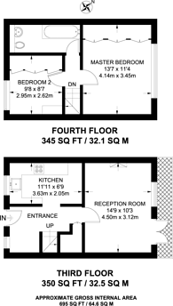 Large floorplan for Riverside Mansions, Wapping, E1W