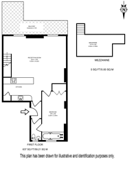 Large floorplan for Gloucester Gardens, Bayswater, W2