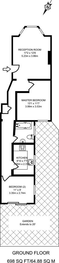 Large floorplan for St Julians Farm Road, West Norwood, SE27