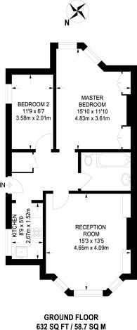 Large floorplan for Bromfelde Road, Clapham North, SW4