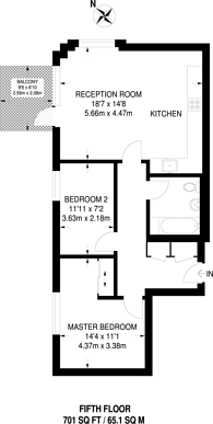 Large floorplan for Lakeside drive, West Twyford, NW10