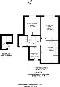 Large floorplan for Finsbury Park Road, Highbury, N4