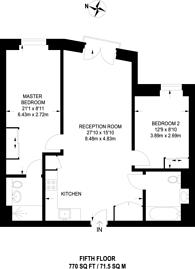 Large floorplan for Dressage Court, Bethnal Green, E2