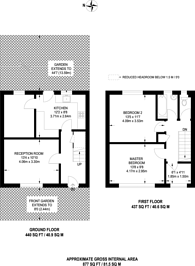 Large floorplan for The Avenue, New Southgate, N11