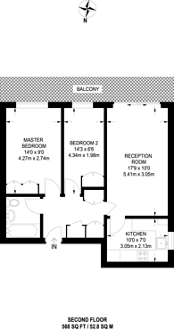 Large floorplan for Westbourne Grove, Notting Hill, W11