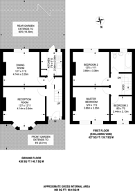 Large floorplan for Roman Road, Upton Park, E6